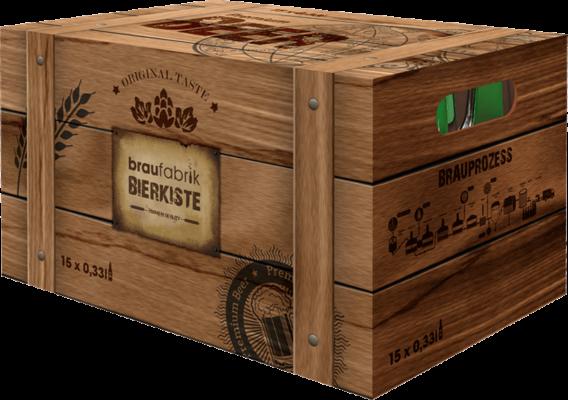 Bier Box mit 15 Flaschen